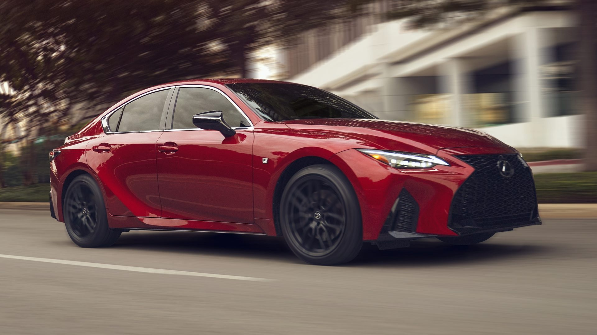 Red Lexus IS 2021