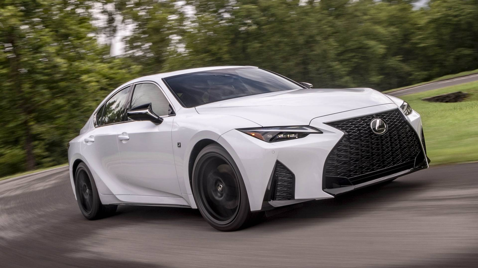 White Lexus IS 2021