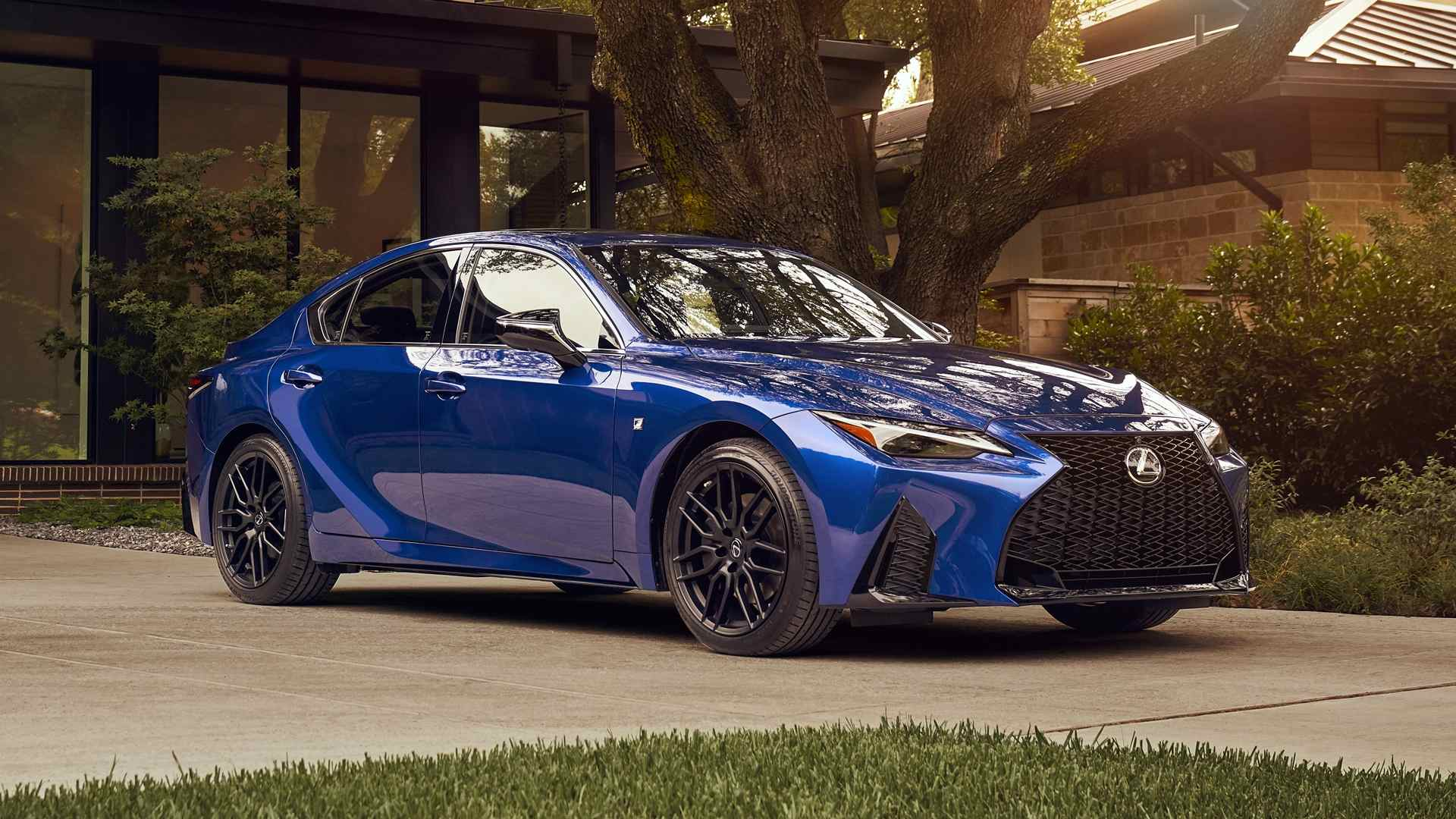 Blue Lexus IS 2021 side